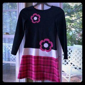 🌸 Hartstrings black pink flower power dress 10 🌸